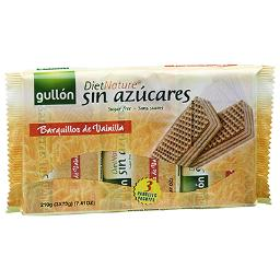 Diet Nature galletas barquillo gullon de 210g.