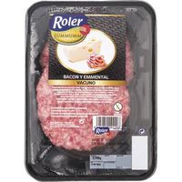 Roler hamburguesa bacon queso summumm de 240g. en bandeja