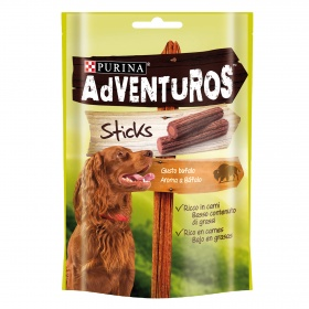 Adventuros sticks snack perro aroma bufalo de 120g.