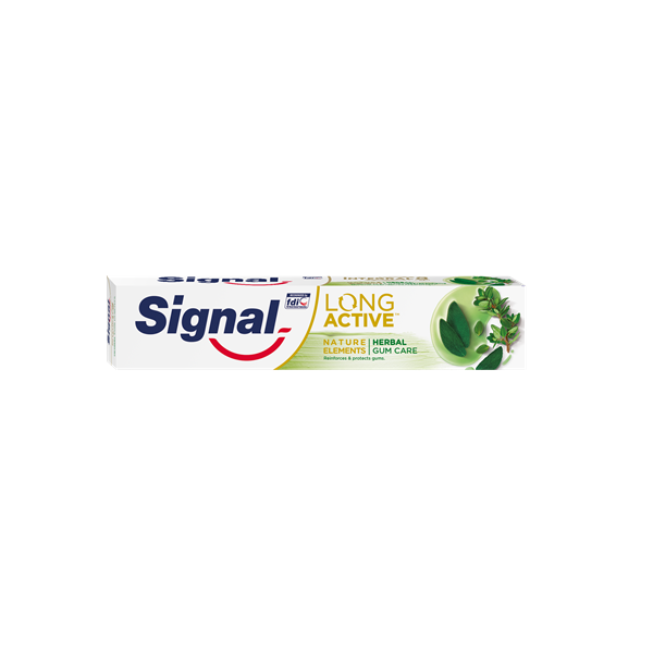 Signal long active pasta dientes herbal gum care tubo de 75ml.