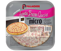 Palacios mini pizza jamon bacon queso de 225g.
