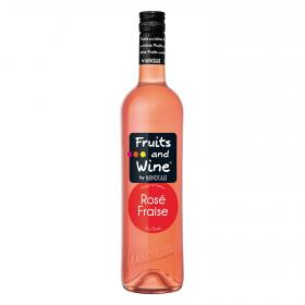 Vino rosado de fresa fruits & wine de 75cl.