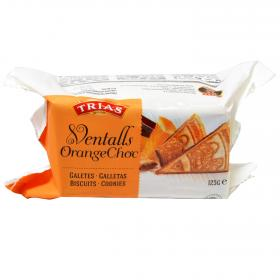 Trias galletas ventalls chocolate naranja 125