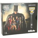 Gillette fusion pack justice league maquinilla afeitar gel 3 recambios