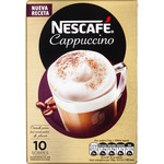 Nescafé cappuccino cafe soluble natural 3 paquetes total: 30 en sobre