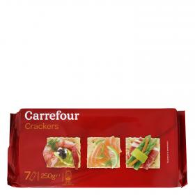 Carrefour crackers de 250g.
