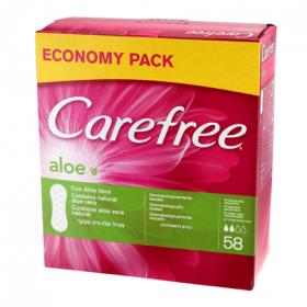 Carefree protegeslip transpirable con aloe vera natural 58