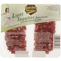 Sanchez Alcaraz taquitos jamon light de 50g. por 2 unidades