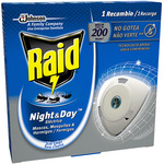 Raid insecticida electrico antimosquitos night & day 1 recambio