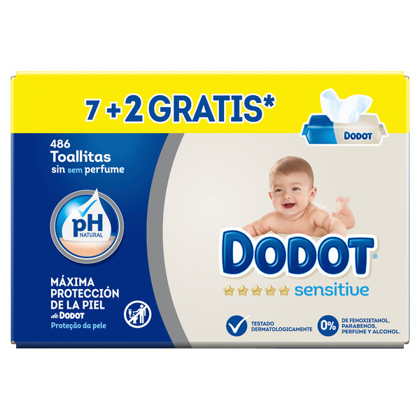 Dodot Sensitive dodot sensitive toallitas, 486 toallitas