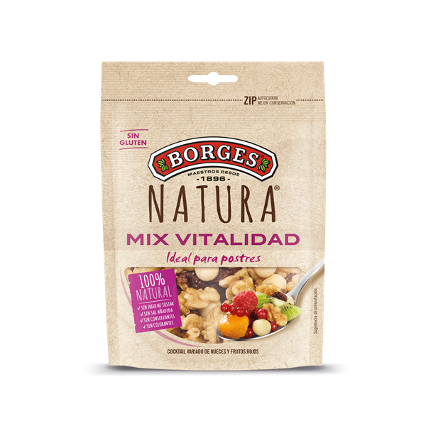 Borges cocktail frutos secos frutos rojos natura de 120g.