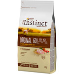 True Instinct original alimento natural perros raza mini con pollo arroz envase de 2kg.