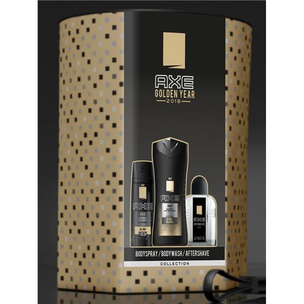 Axe golden year pack con bodyspray gel baño after shave de 10cl. en bote