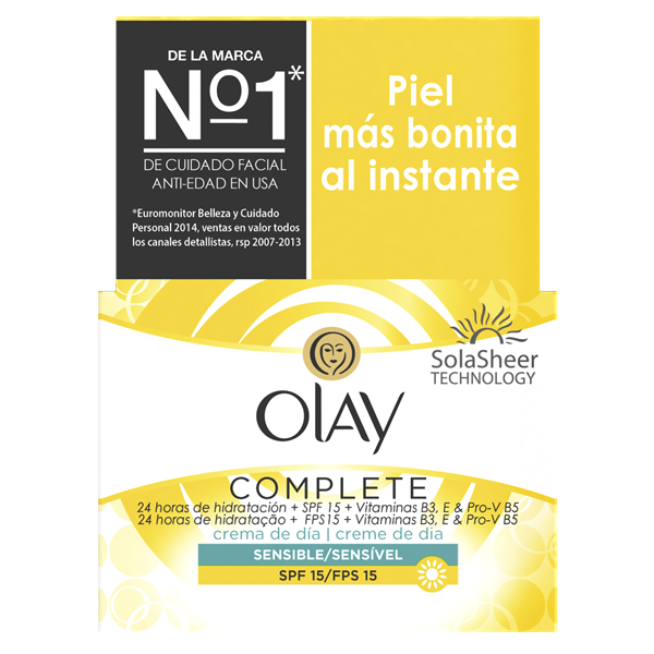 Olay essentials complete crema hidratante dia sensitive piel sensible de 50ml. en bote
