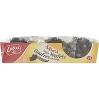 Lotus mini gofre con chocolate de 190g. en paquete