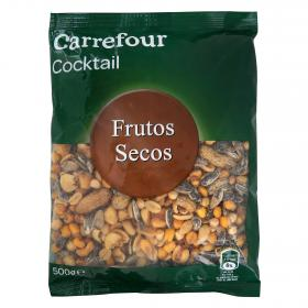 Carrefour cocktail frutos secos de 500g.