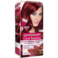 Garnier color sensation tinte rojo intenso nº 6 60 coloracion permanente intensa pincel gratis en caja