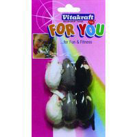 Vitakraft ratones felpa gatos for you 6 uds