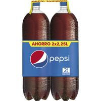 Pepsi cola normal de 2,25l. por 2 unidades en botella