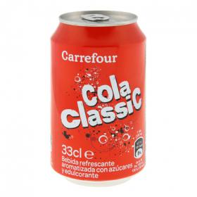 Carrefour refresco cola clasico de 33cl.