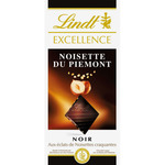 Lindt excellence chocolate negro con trocitos avellana crujientes tableta de 100g.