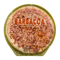 Hacendado pizza fresca barbacoa con bacon familiar de 600g.