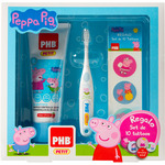 Phb pack plus petit cepillo dental dentifrico petit gel regalo set 10 tattoos peppa pig de 75ml.