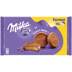 Milka choco wafer galletas barquillo cubiertas chocolate de 300g. en paquete