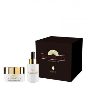 Crema revitalizante facial + sérum revitalizante velvet mandalay de 50ml.