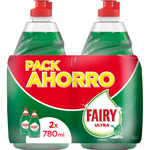 Fairy ultra lavavajillas mano concentrado regular pack ahorro de 78cl. por 2 unidades en botella