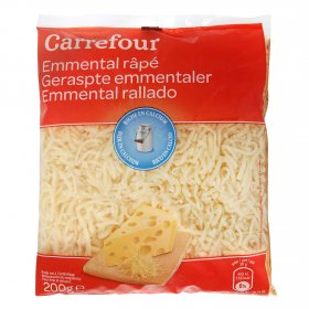Carrefour queso rallado emmental de 200g.