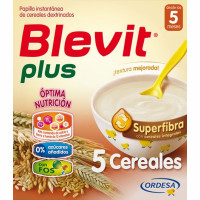 Blevit papilla 5 cereales plus superfibra de 600g.