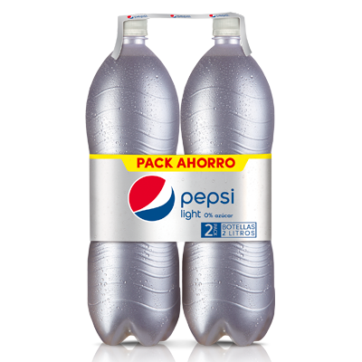 Pepsi light refresco cola 0% azucar de 2l. por 2 unidades