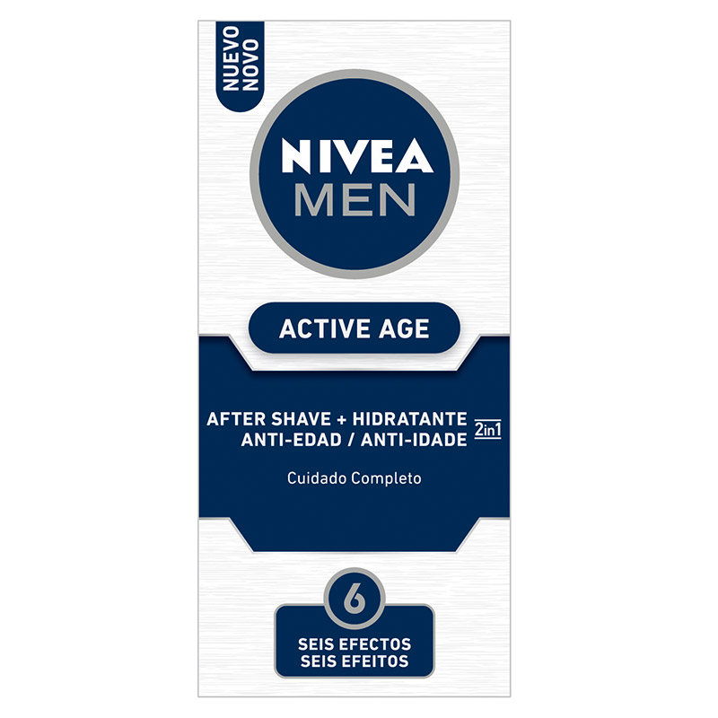 Nivea Men hombre active age after shave hidratante 2 en 1 cuidado completo de 75ml. en bote