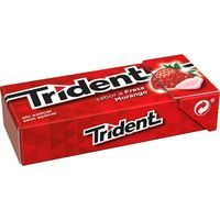 Trident chicles sabor fresa tridenten fruit de 14,5g.