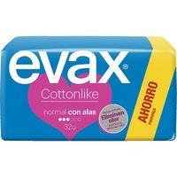 Evax compresa normal con alas salvaslip 32 en caja