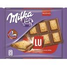 Milka lu chocolate con galleta sandwich tableta de 35g.