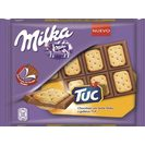 Milka tuc chocolate con galleta sandwich tableta de 35g.