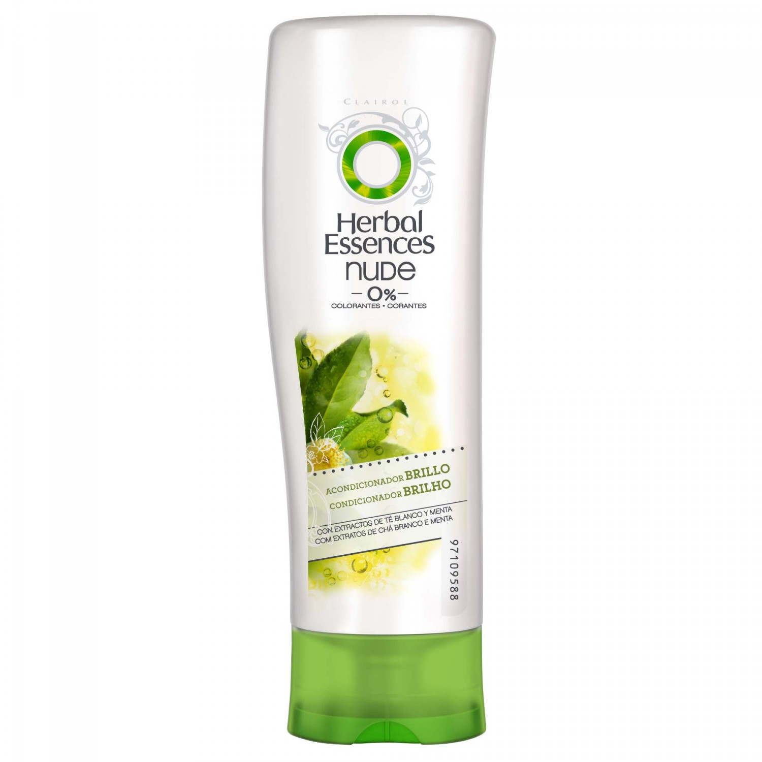 Herbal Essences nude nude acondicionador brillo con extractos te blanco menta de 40cl.