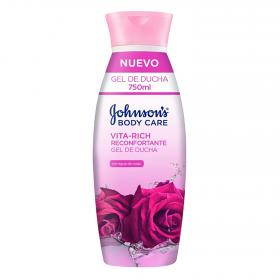 Johnson's gel ducha vita rich reconfortante con agua rosas de 75cl.