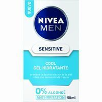 Nivea For Men gel hidratante sensitive cool hombre de 50ml. en bote