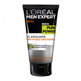L'oréal Men Expert gel exfoliante antiporos obstruidos pure power de 15cl.