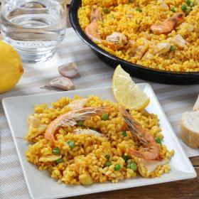 Royal paella familiar mixta de 1kg.