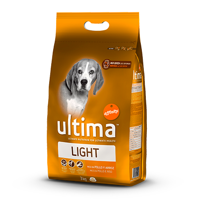 Ultima light rico en pollo arroz perro de 3kg. en bolsa