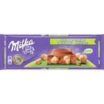 Milka chocolate con avellanas enteras de 270g.