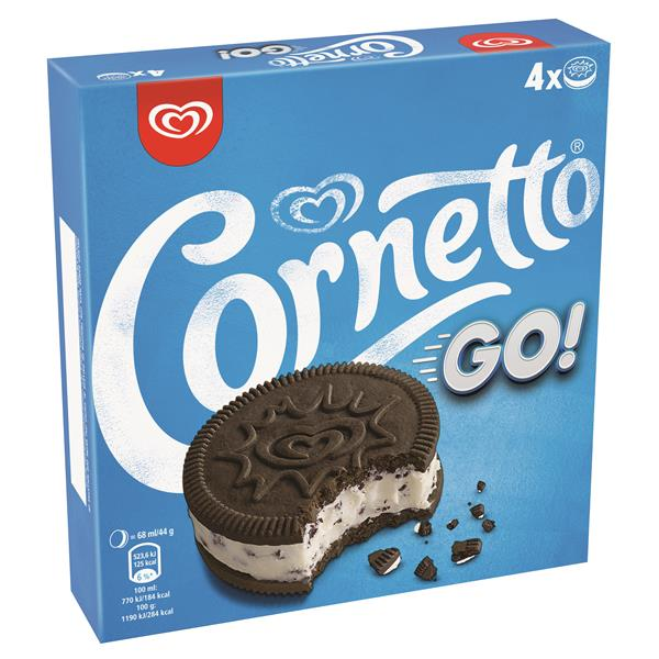 Cornetto cornetto go 4x68ml 176g 4mp