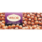 Valor chocolate con leche avellanas tableta de 250g.