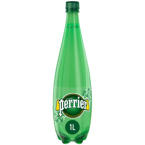 Perrier agua natural con gas de 1l.