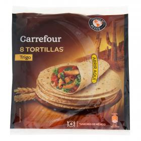 Carrefour tortillas trigo natural tex mex de 340g.