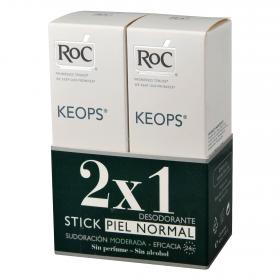 Roc duplo desodorante en roll on keops de 60ml.